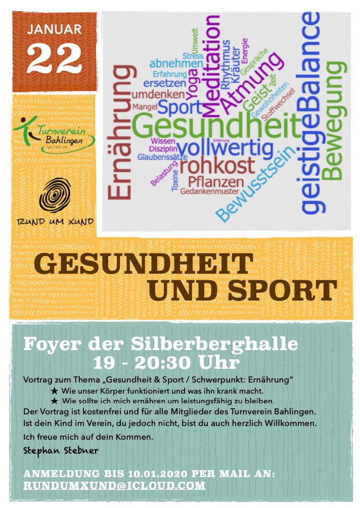 Flyer Gesundheit und Sport